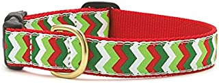 "product image for Up Country Holiday Chevron Style Dog Collar S (9-15""); Wide 1"""