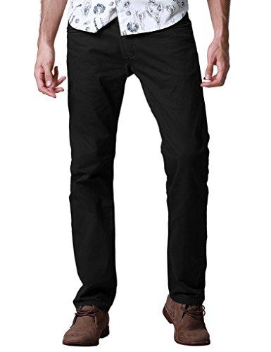Match Men's Regular Fit Straight Leg Jeans(36,8092 Black) - Black Jean Style Pant