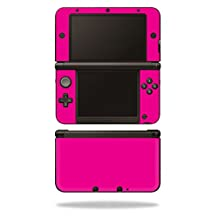 MightySkins Protective Vinyl Skin Decal Cover for Nintendo 3DS XL Original (2012-2014 Models) Sticker Wrap Skins Solid Hot Pink