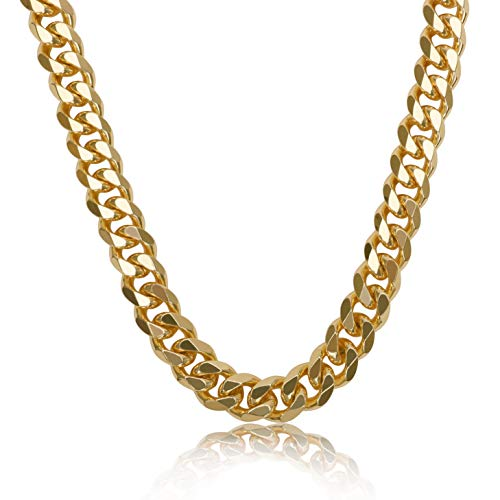 NYUK Gold Chain for Men Cuban Link Necklace 36''