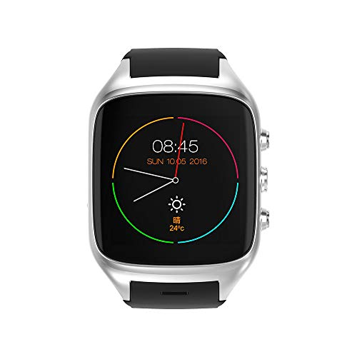 TONGTONG 3G WiFi Android Smartwatch Phone Bluetooth Smart Watch 1.3GHz Dual Core IP67 GPS Watch Cam RAM 512M Heart Rate ()