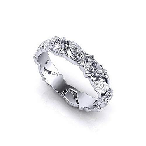 (Monowi Women 18K White Gold Fil Topaz Wedding Anniversary Ring Jewelry Size 6-10 | Model RNG - 6440 | 8)