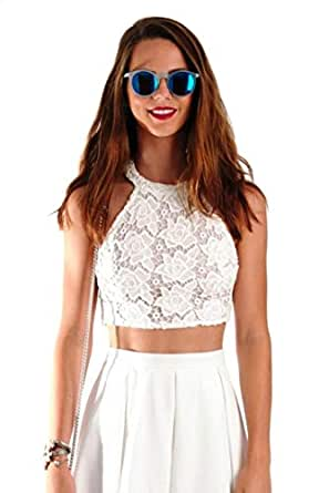 Hipster 76-33Ltl Blouse For Women - L, White