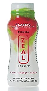 Zeal for Life - Kiwi Watermelon - Wellness Product - Classic Formula - Case of 24 Individual Serving Bottles