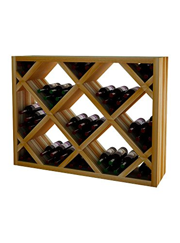 Wine Cellar Innovations DR-UN-DIAMAR_LAQG1-A3 Designer Series Diamond Bin Below Archway (Solid Material) Wine Rack, Premium Redwood, With Lacquer Finish, ()