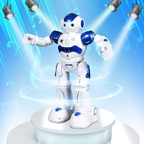 SGILE RC Robot Toy, Programmable Intelligent Walk Sing Dance Robot for Kids Gift Present, Blue