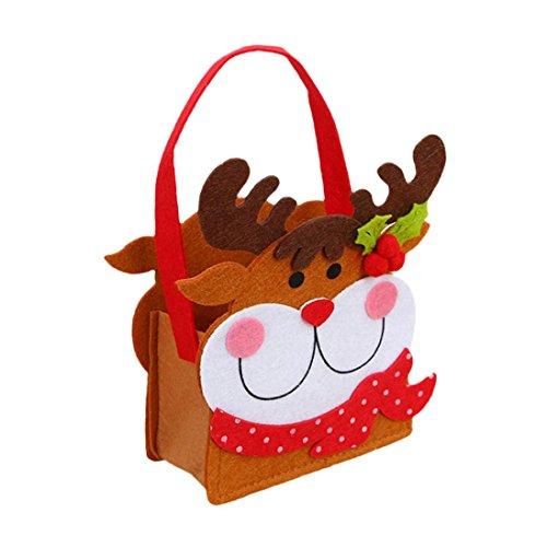 Snowman Snack - Euone Merry Christmas Candy Bag Santa Claus Snowman Snack Packet Household Garden Home Decor (C)