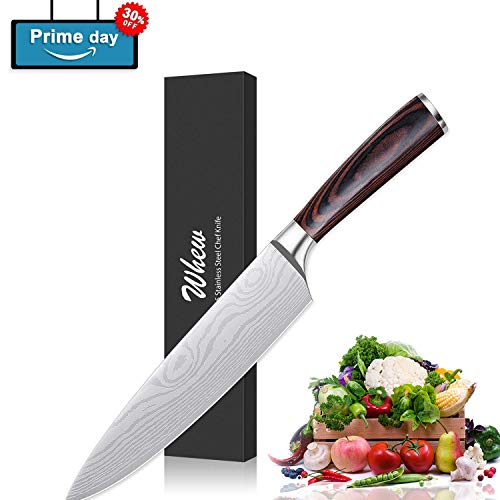 Whew Chef Knife, 8 Inch Japanese High Carbon Stainless Steel Pro Kitchen Knife with Ergonomic Handle, Razor Sharp,Stain and Corrosion Resistant,Best Choice for Home Kitchen and Restaurant