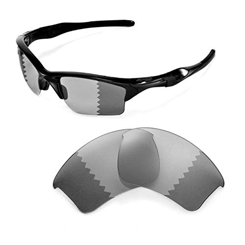 Walleva Replacement Lenses for Oakley Half Jacket 2.0 XL Sunglasses - Multiple Options Available (Photochromic/Transition - ()