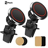Magnets Phone Holder, Adjustable Swivel Head Car Cradles & Mounts Clip Vehicle Air Vent Cell Phone Holder with Steel Sheets Phone Mount for Smart Phones