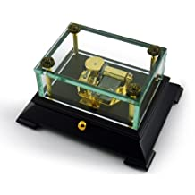 Exclusive Crystal Music Box W. Contemporary Wooden Base Overstock Price - Over 400 Song Choices - Lord's PrayerThe (Albert Hay Malotte)