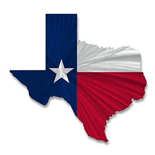 Metal Wall Art Sculpture Texas State Flag Map
