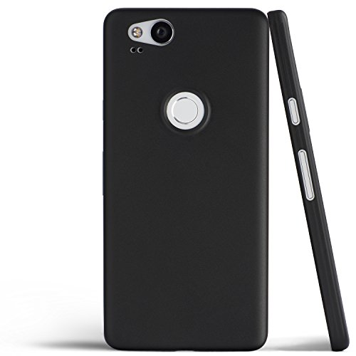 totallee Pixel 2 Case, Thinnest Cover Premium Ultra Thin Light Slim Minimal Anti-Scratch Protective - for Google Pixel 2 (Midnight Black)