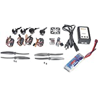 QWinOut DIY RC Helicopter Kit :KV2300 Brushless Motor +12A ESC + QQ Flight Control + 5030 Propeller + 2200mMah Battery for DIY Mini 250 RC Racing Drone Quadcopter