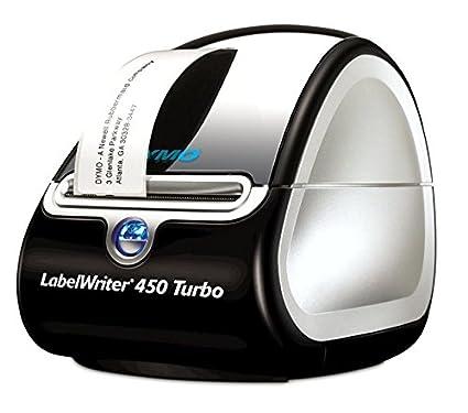 Dymo S0838820 LabelWriter 450 Turbo Imprimante dEtiquettes USB Impression en Noir sur Fond Blanc 101 mm x 54 mm Cassette de 220 Grandes Etiquettes LW pour Adresses et Badges Nominatifs