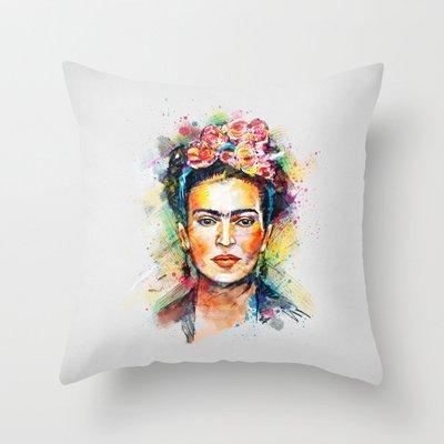 18 * 18 pulgada buen diseño funda de almohada cojín de Frida ...