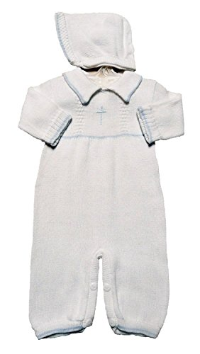 boys-white-cotton-knit-christening-longall-with-blue-cross-and-hat-12mo
