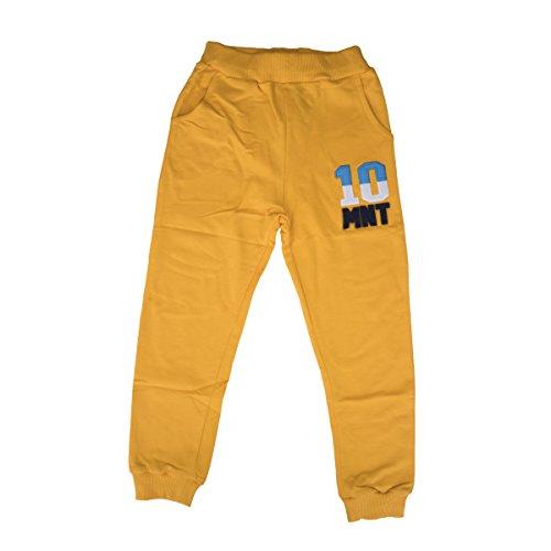 (Minoti Little Boys Drawstring Elastic Sweatpants Sport Jogger 100% Cotton (5 Years, Yellow))