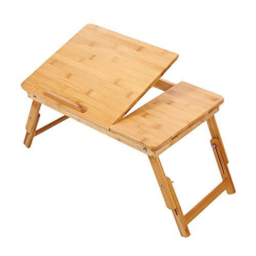 LFF- Escritorio Plegable Ajustable del Escritorio del Ordenador portátil Escritorio Ligero del Estudio Plegable pequeño del hogar del bambú