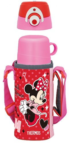 THERMOS vacuum insulation bottle 2WAY Disney Minnie 0.63L/0.6L Rose Red FFG-600WFDS RR (japan - Glass Write Online On Name