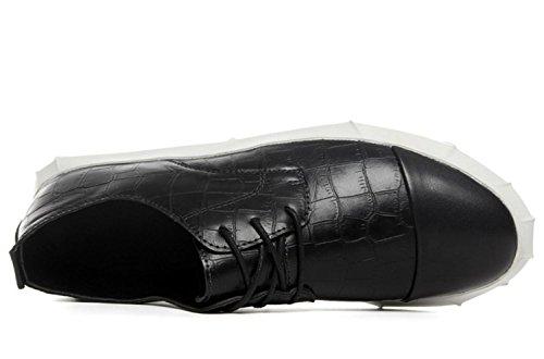 CSDM Uomini Respirabili Studenti Scarpe Sportive Scarpe da Tennis all'aperto Scarpe Casual Attive , black , 40