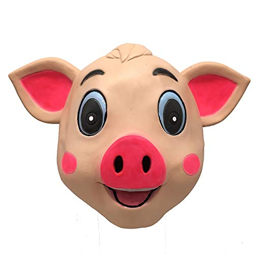 Marching orchid Pig Mask Animal Headgear Pig Full Face Mask Halloween April Fool's Day Costume Party Creative Supplies Cute Pig Show -