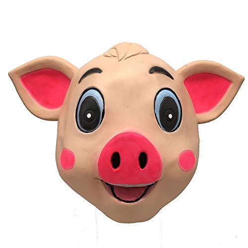 Marching orchid Pig Mask Animal Headgear Pig Full