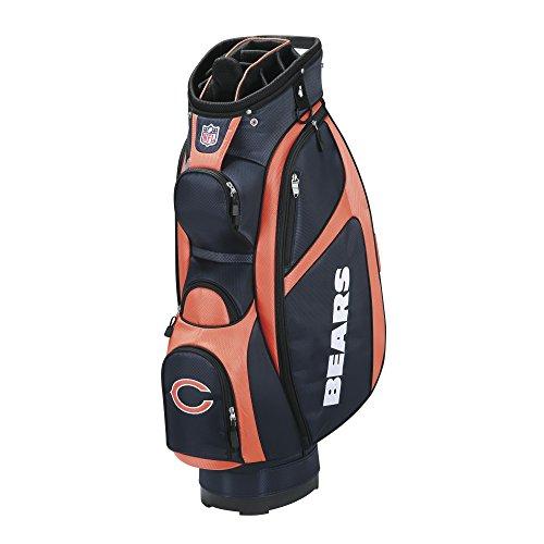 Chicago Golf Bag Cart Bears - Wilson NFL Chicago Bears Cart Golf Bag, Navy/Orange, One Size