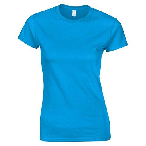 Gildan softstyletm camiseta de hilado y para mujer Azul zafiro