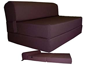 Amazon Com Brown Sleeper Chair Folding Foam Bed Sized 6