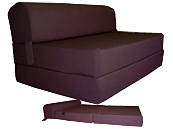 Exceptionnel Brown Sleeper Chair Folding Foam Bed Sized 6u0026quot; Thick X 32u0026quot; Wide X  70u0026quot