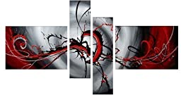 Cyber Monday Deal Paintings on Canvas Modern Paintings Contemporary Art Abstract Paintings Reproduction Framed Canvas Wall Art for Home Decor 4 panels Wall Decorations For Living Room Bedroom Office Paintings for wall