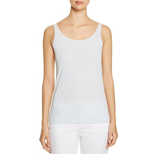 Eileen Fisher Womens Silk Scoop Neck Tank Top Blue - Fisher Eileen Silk Womens