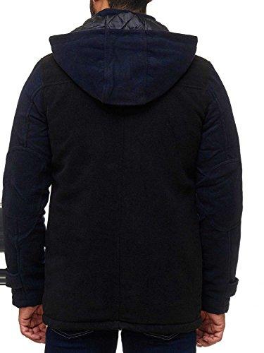Giacche blu Cappotto Due Uomini Pile Staccabile Invernale Degli Arizonashopping Nero Parka Di Con Foderato Caldo Cappuccio H2014 Giacca Toni In v1wYH