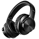 Picun B8 Blueooth Headphones 40 Hrs Playtime Touch Control Over Ear Wireless Headphones V5.0 with Mic, 50mm Drivers HiFi Foldable Headsets, Comfy and Lightweight, Wired/TF Mode for PC/Travel(Black)
