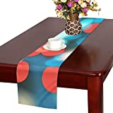 Bokeh Blur Color Table Runner, Kitchen Dining Table Runner 16 X 72 Inch For Dinner Parties, Events, Decor