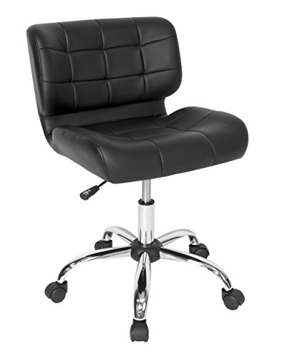 Calico Designs 10658 Modern Black Crest Office Chair, Black Commerce Low Back Swivel