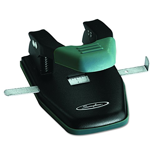 Two Punches (Swingline 2 Hole Punch, Comfort Handle Two Hole Punch, 50% Easier, 28 Sheets Punch Capacity (74050))