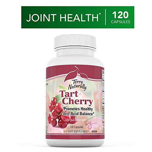 Antioxidant Naturally 60 Capsules - Terry Naturally Tart Cherry - 1500 mg, 60 Vegan Capsules - Provides Antioxidant Effects, Supports Joint Flexibility & Comfort, Aids in Exercise Recovery - Non-GMO, Gluten-Free - 30 Servings