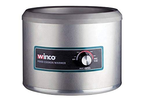 Winco FW-11R500, Electric 11 Quart Round Food Cooker/Warmer, Professional Catering Food Warmer 1250W