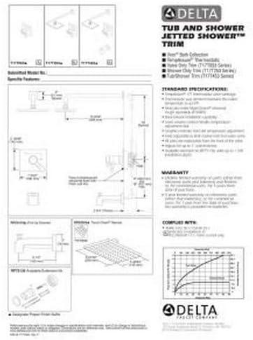 Chrome Delta T17T053 Vero Tempassure 17T Series Valve Trim Only