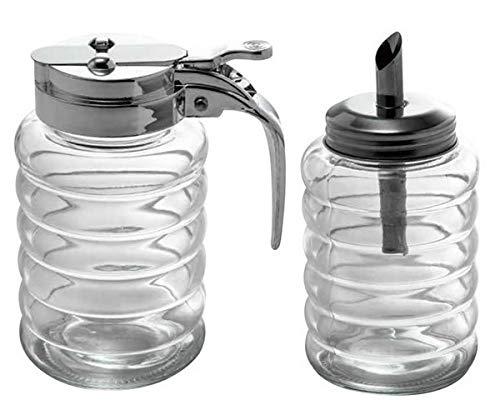 Milchk/ännchen//Honigspender by Carl Schmidt Sohn und Milch-Set STRALSUND Zuckerportionier CS Kochsysteme Zucker