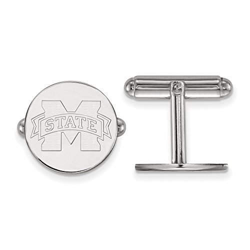 State University Alumni Mississippi - 925 Sterling Silver Officially Licensed Mississippi State University College Cuff Link