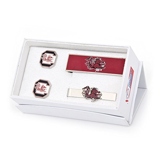 NCAA Mens University Of South Carolina Gamecocks 3-Piece Gift Set by Cufflinks