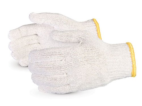 Superior SBQ SureKnit Cotton/Polyester Economy String Knit Glove, Work, 7 Gauge Thickness, X-Large, White (Pack of 1 Dozen)