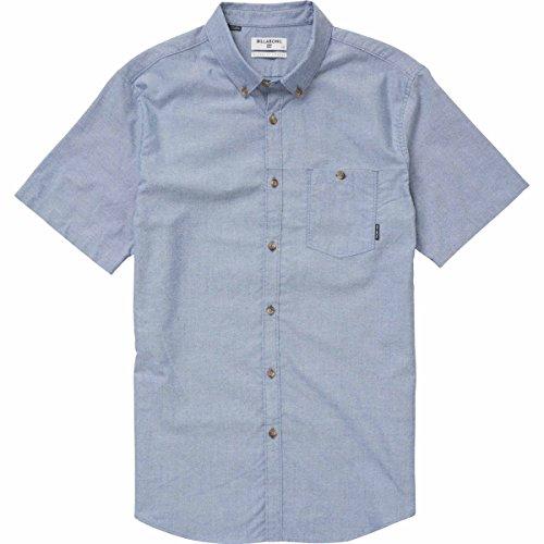 Billabong Men's All Day Oxford Short Sleeve Shirt, Blue, XL by Billabong