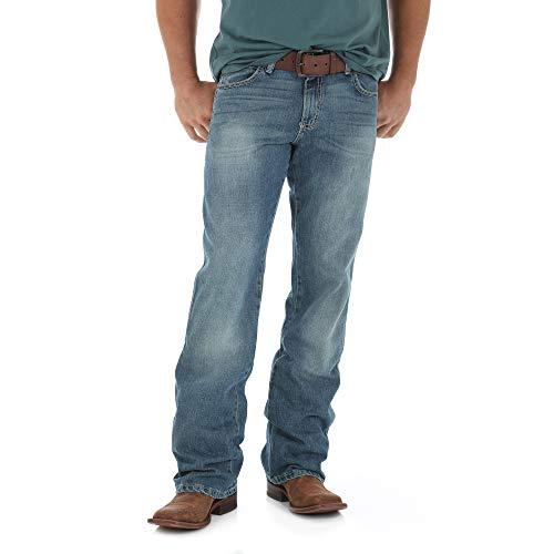 Wrangler Men's Tall Retro Mid Rise Relaxed Fit Boot Cut Jean,Rocky Top,33x38