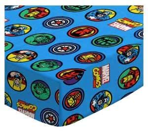 SheetWorld 100% Cotton Jersey Crib Sheet Set 28 x 52, Marvel Comics, Made in USA