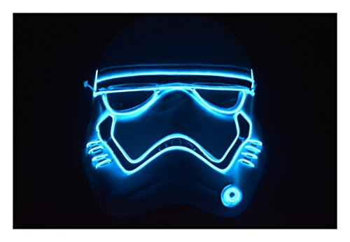 The First Order Stormtrooper Costume (El Wire Mask First Order Storm Trooper Rave Mask Gloving Mask)