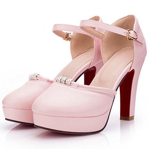 Coolcept Women Summer Sandals Closed Toe Heels Pink g9VeA6vaat